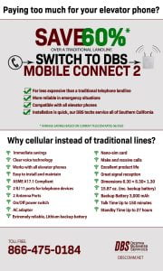 Save 60% by switching to a cellular elevator phone line